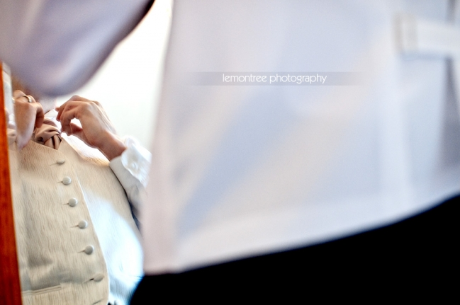 Brides brother getting ready for wedding-Ventnor, Isle of Wight Wedding