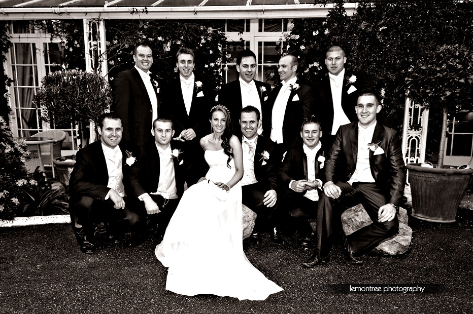 Wedding group at the Royal Hotel Ventnor