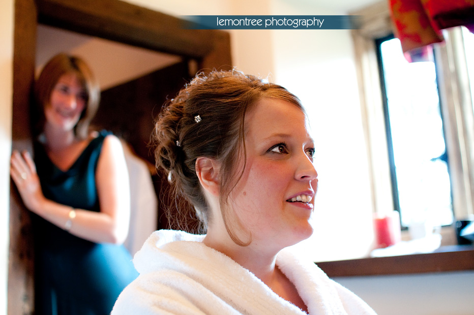 Bride getting ready for her somerset wedding
