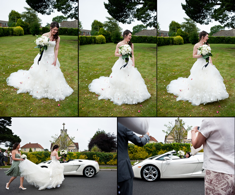 supercar wedding car
