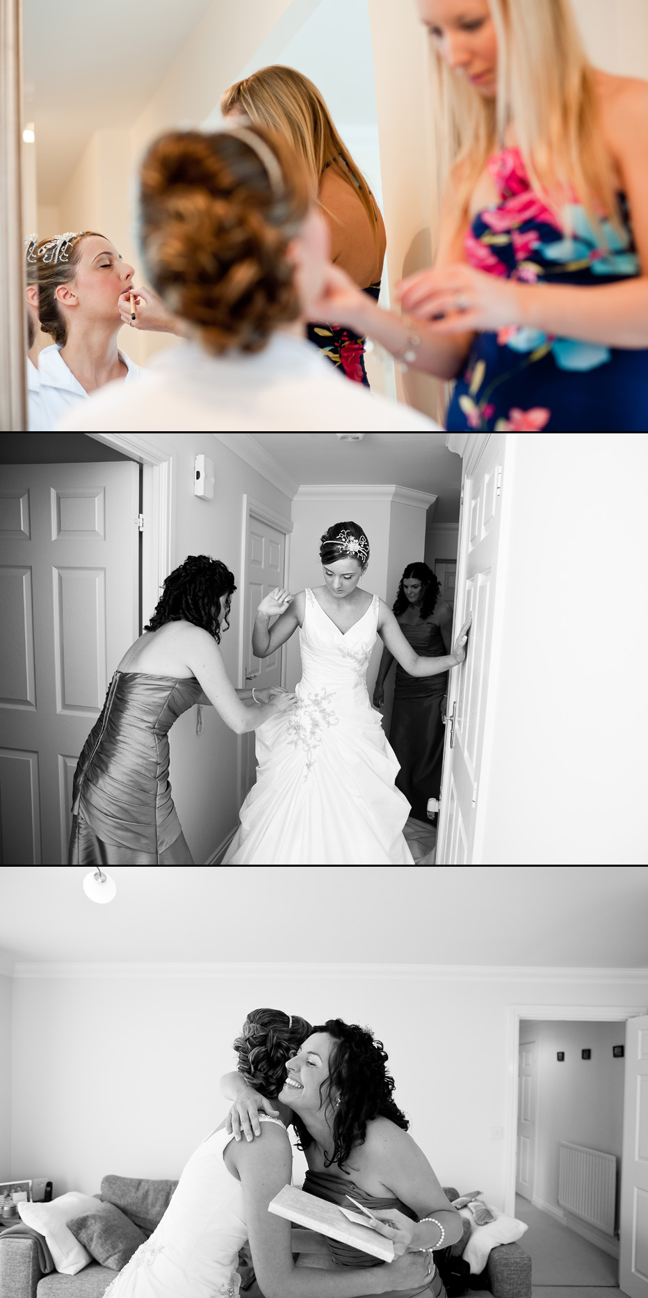 bride getting ready in hampshire