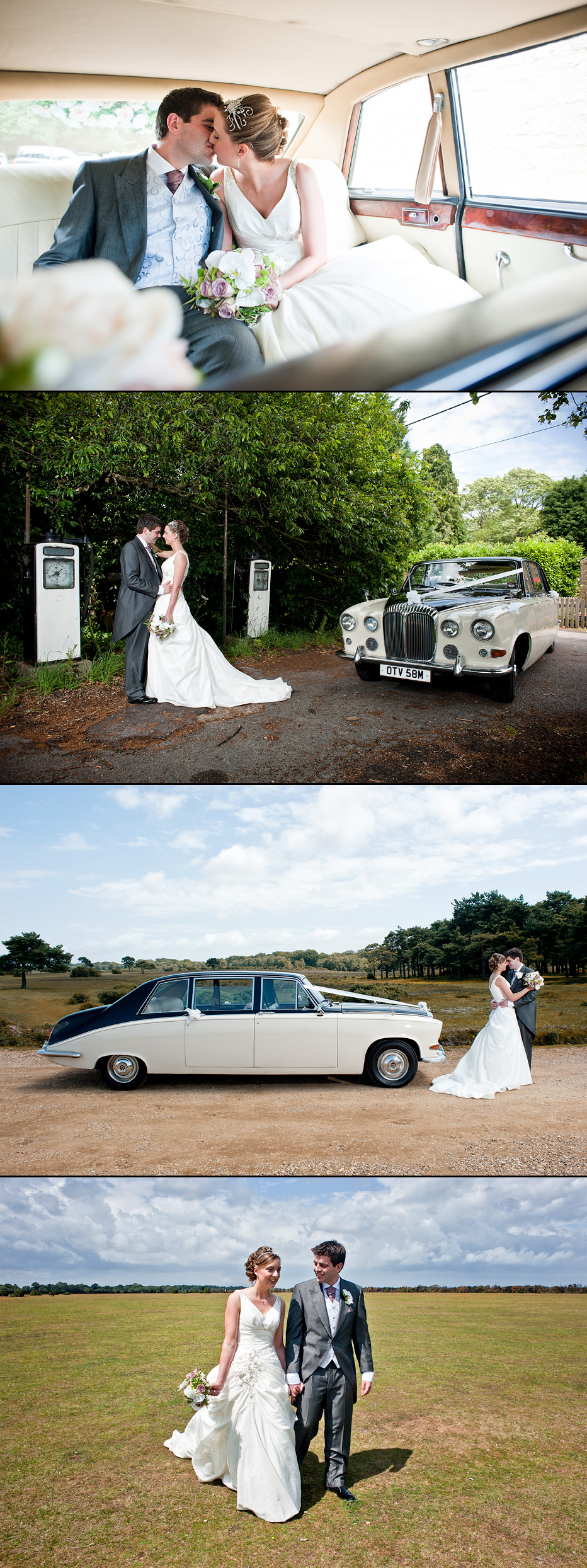 bride and groom at exbury