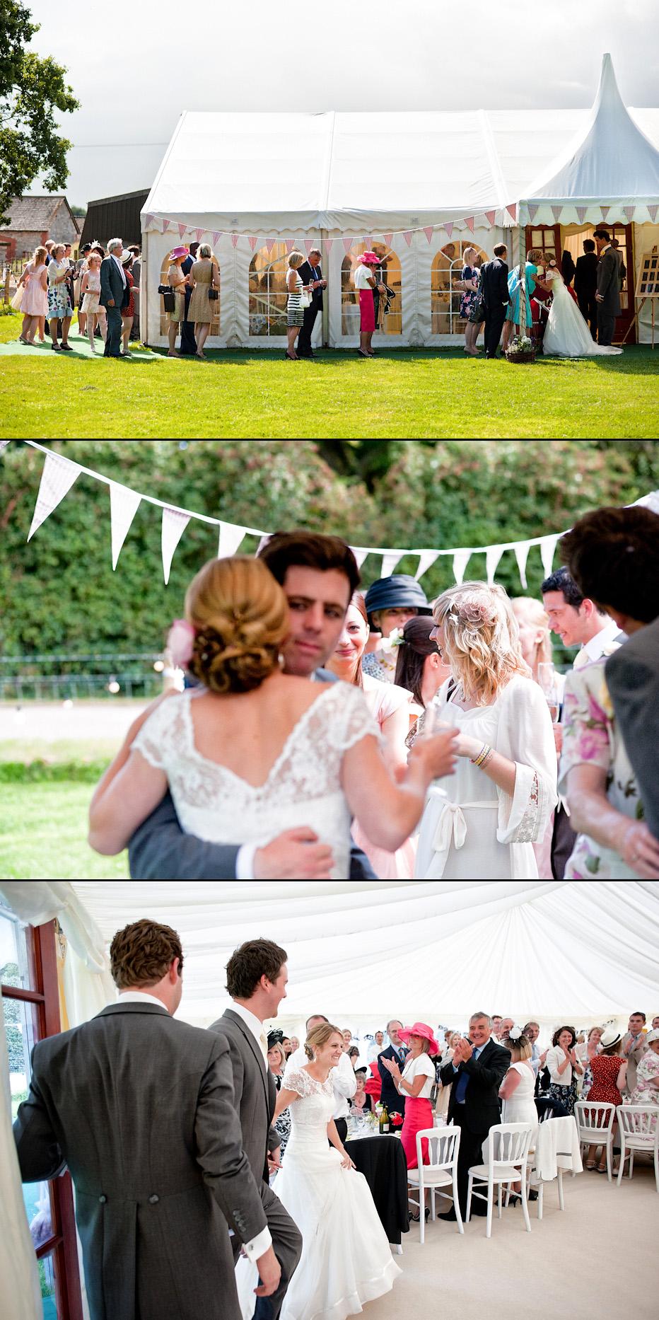Marquee wedding in Dorchester