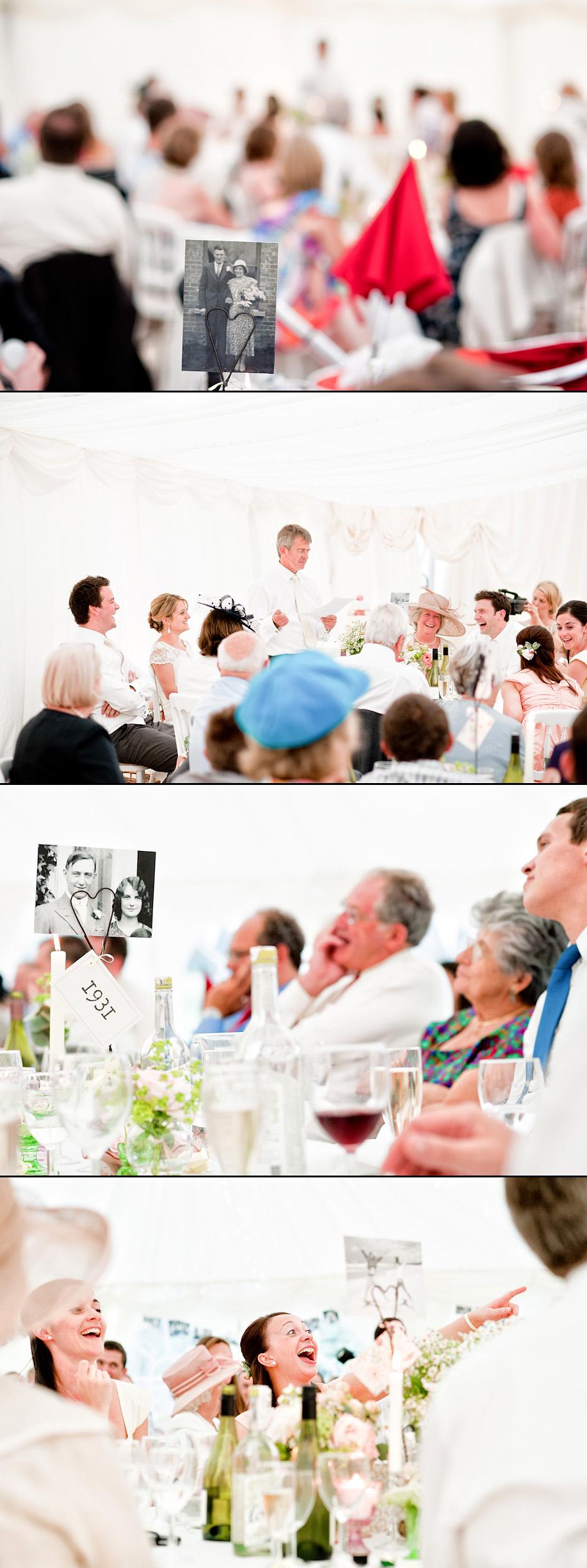 wedding speeches at marquee wedding