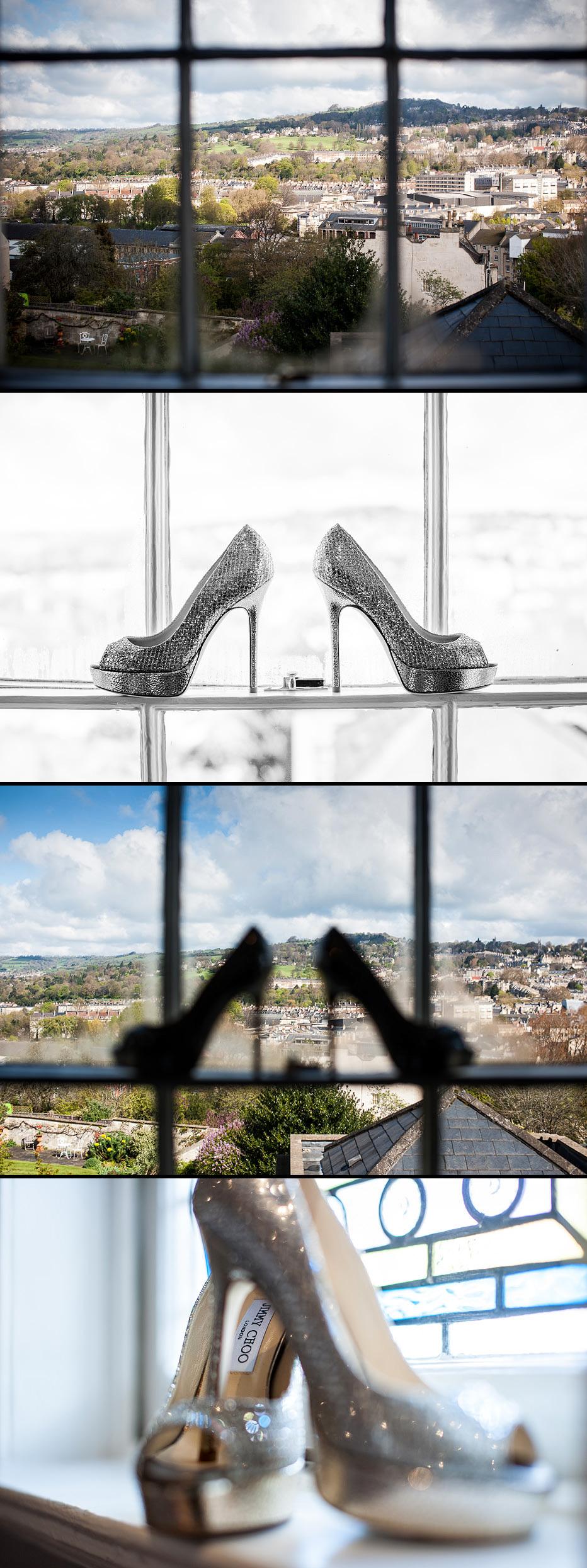 Jimmy Choo shoes at Bath wedding