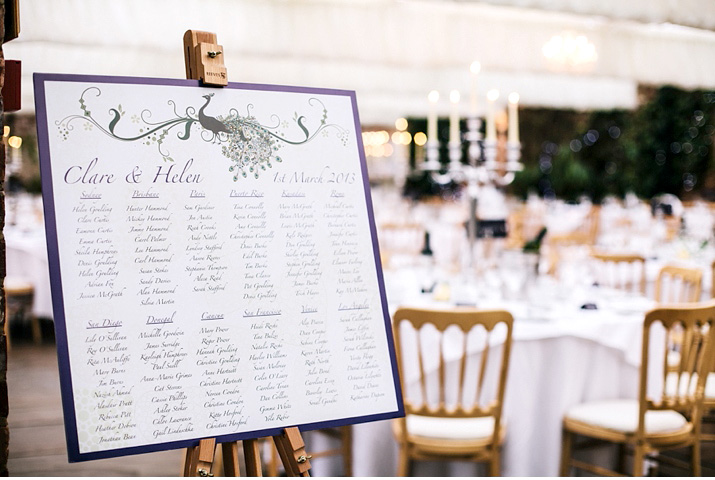 handmade seating plan wedding